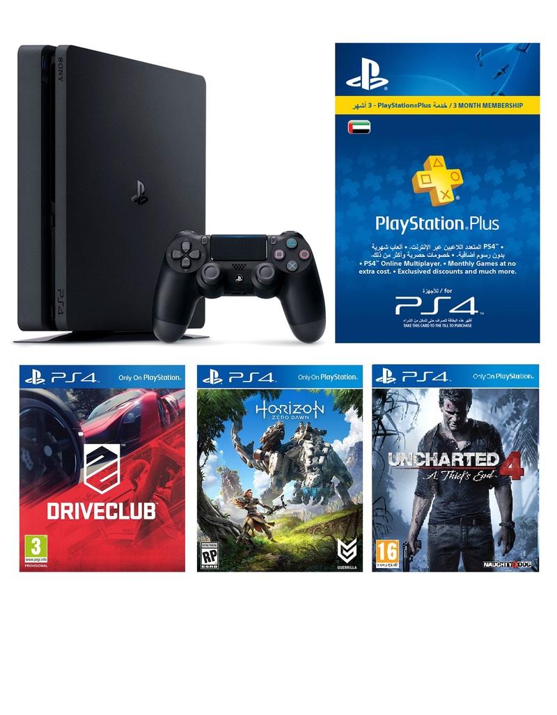 Sony Ps4 Slim 500gb Driveclub Uncharted 4 A Thiefs End Playstation Horizon Zero Dawn Reg 3 Reviews